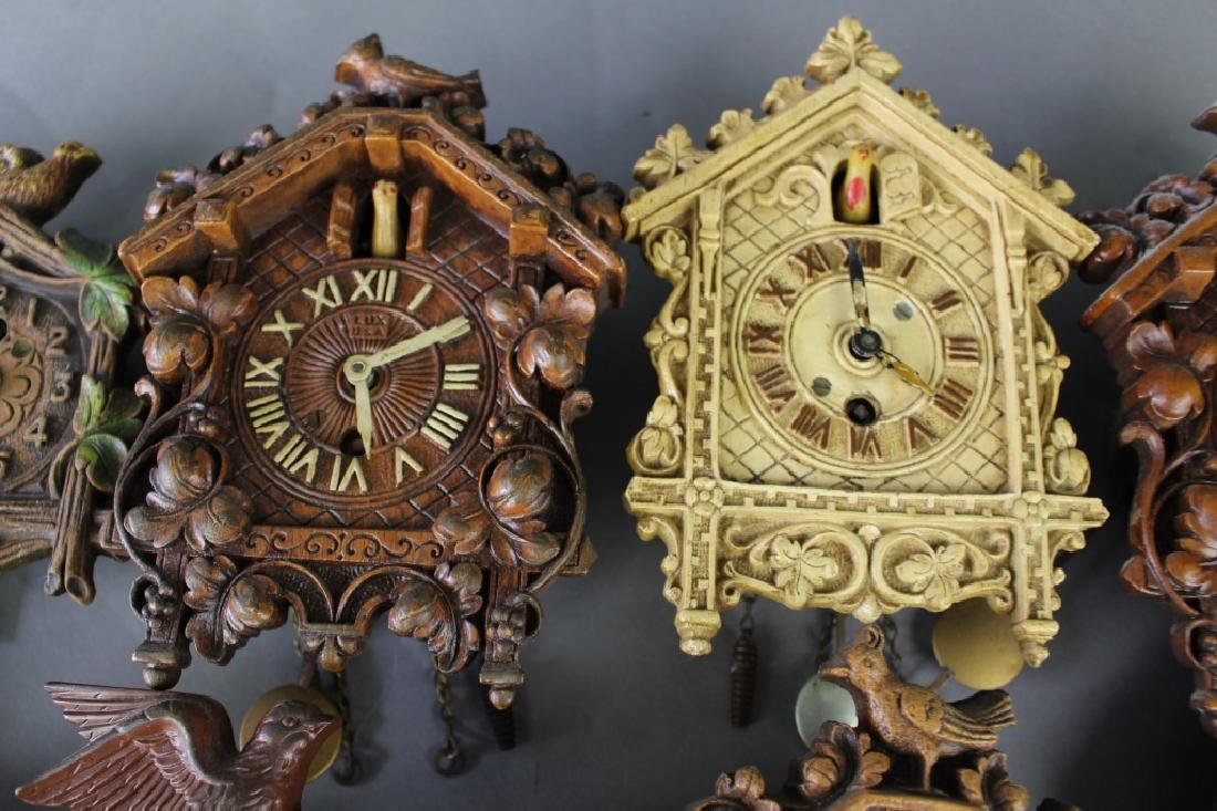 Collection of 17 Miniature Wall Clocks - 4