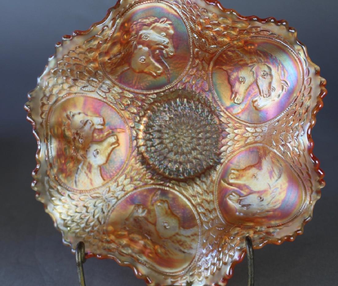 Three Carnival Glass Bowls - 3