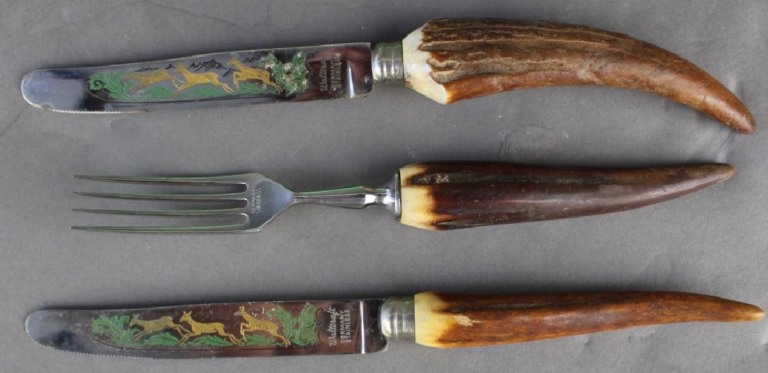 Stag Horn Handle Cutlery and Flatware Set - 2