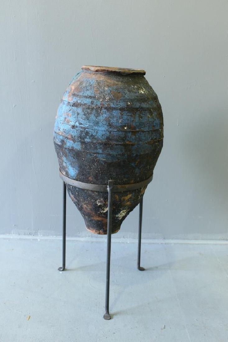 Mediterranean Terra Cotta Oil Jar