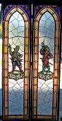 224: Pr. 19th C. Eastlake Victorian leaded windows