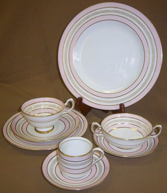 1: Tiffany & Co. Serena pattern 76 pc china set
