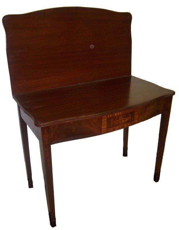 11: Circa 1910 mahogany game table Circa 1910 mahogany