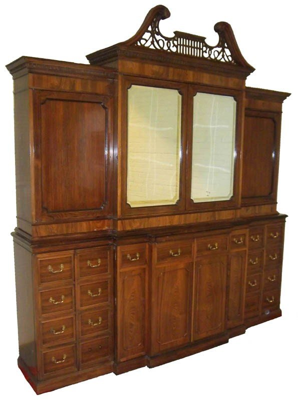 3: Monumental Early 20th C. rosewood breakfront