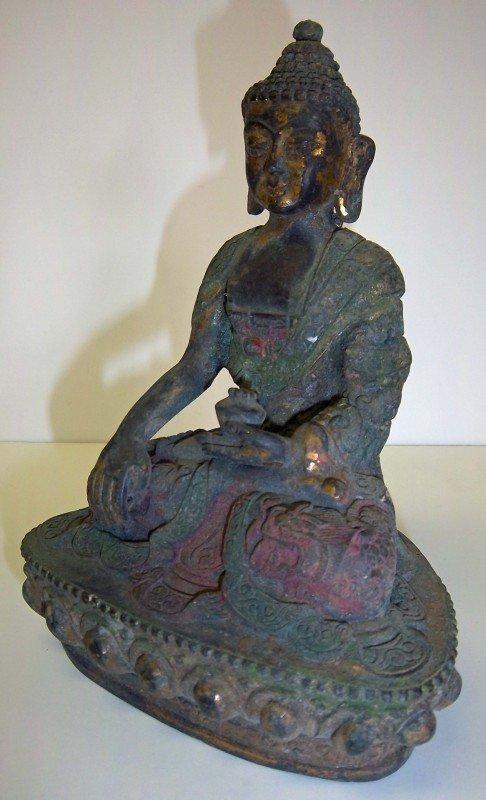 5: 17th C. Ming dynasty gilt bronze buddha