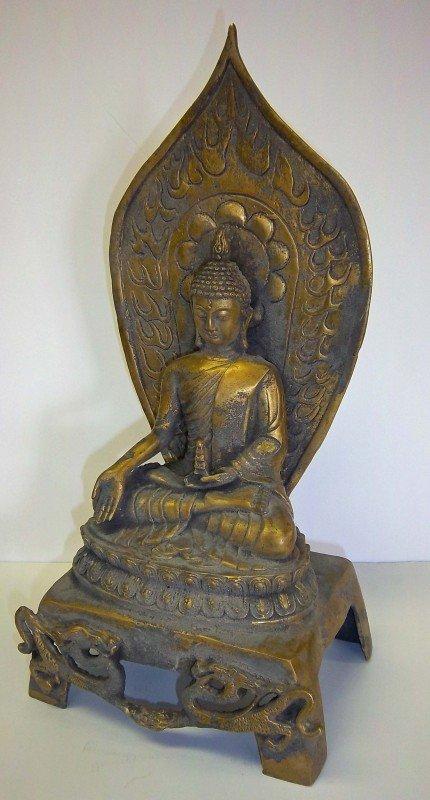 10: 19th C. Qing dynasty gilt bronze buddha