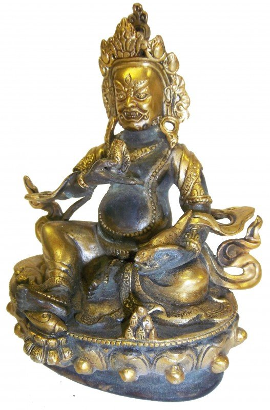 11: 17/18th C. Gilt bronze buddha