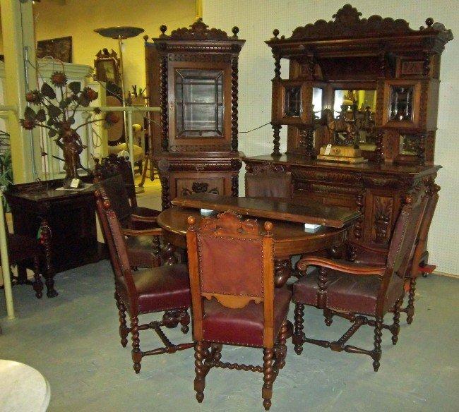 20A: C1890 Mahogany 12 piece diningroom set