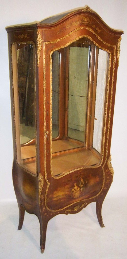 9: 19th C. Vernis Martin paint decorated curio