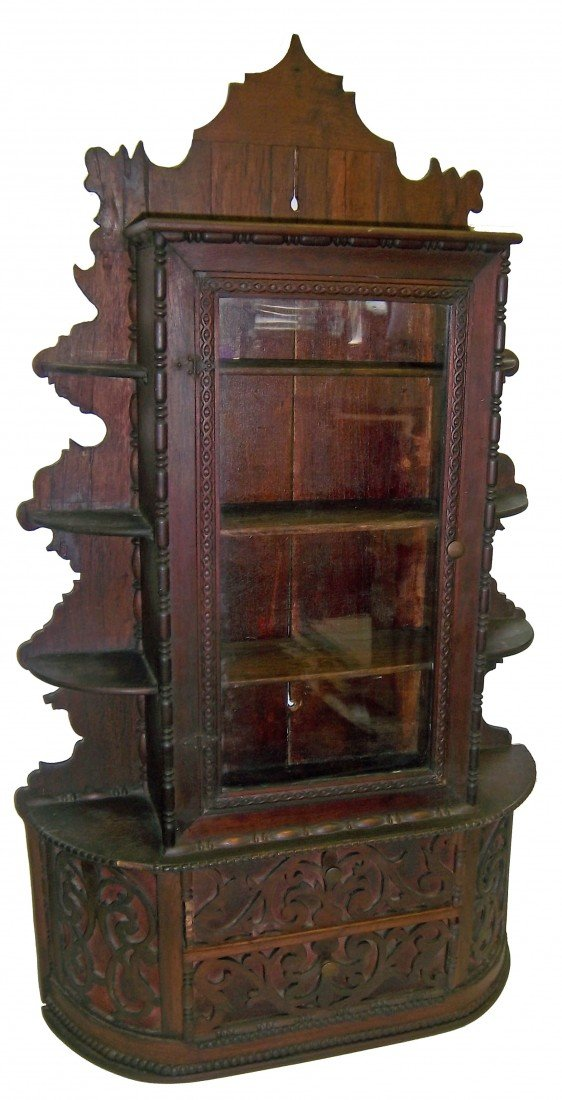 8: Unusual 19th C. salesman sample Rococo sideboard