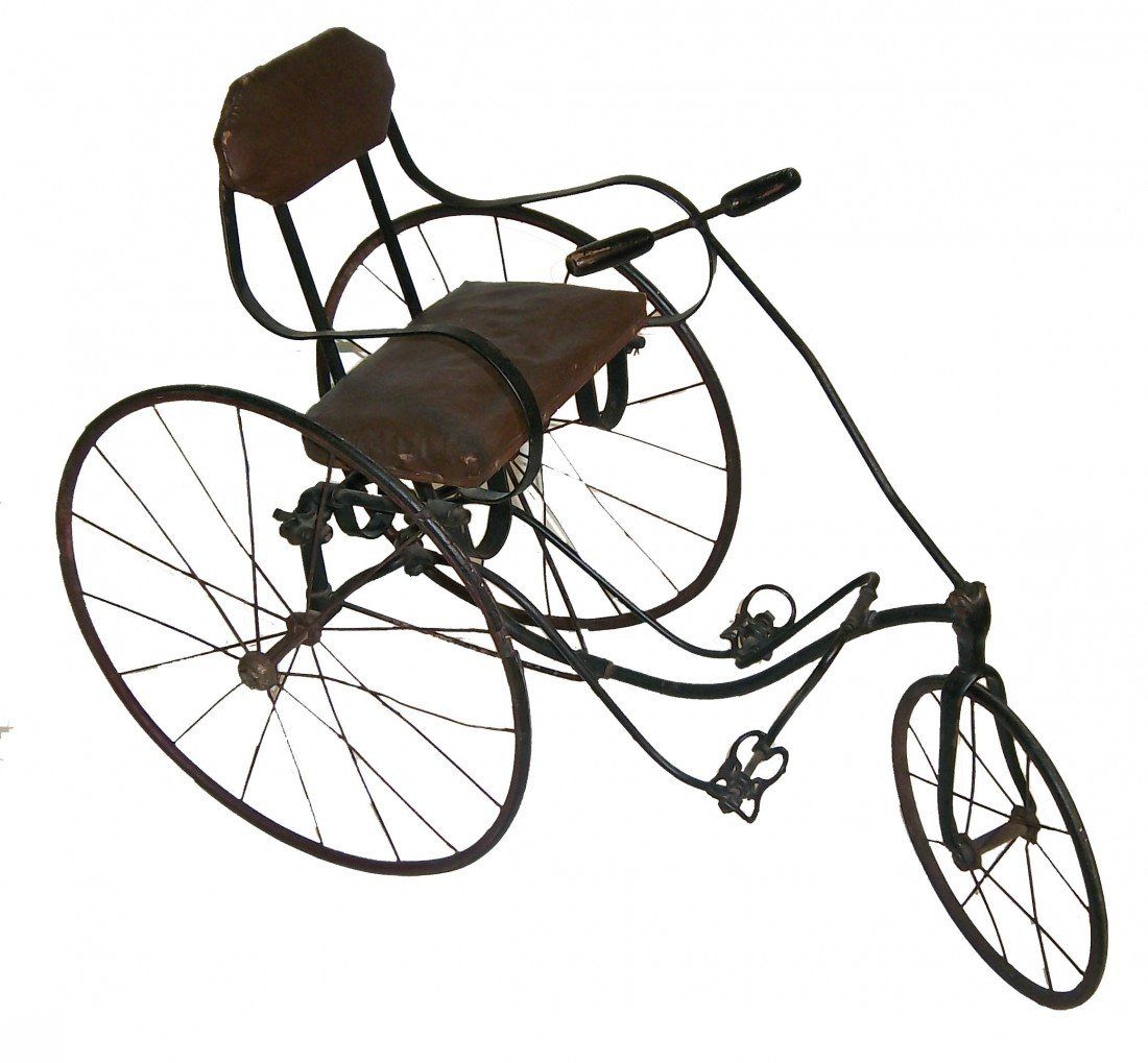13: Rare 19th C. signed 3 Wheel tricycle