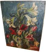 188: Carl Moll painting of flowers