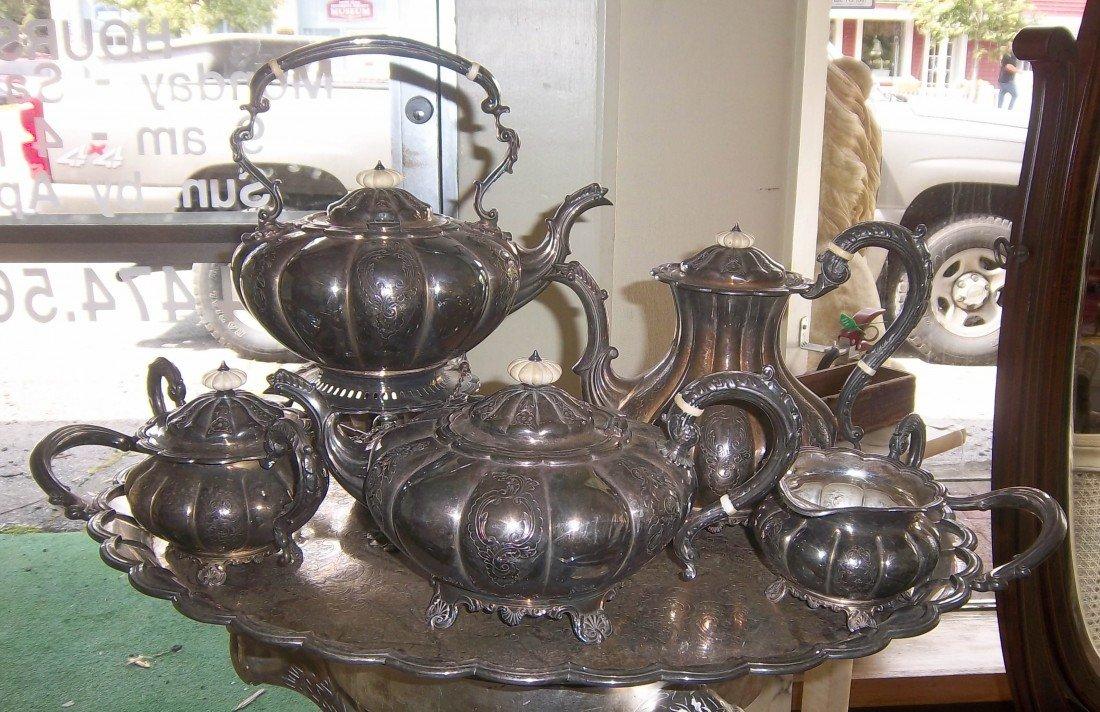 5: Lrg. 6pc. Sheffield English tea set