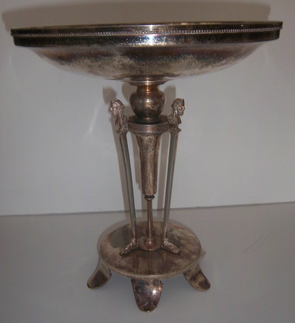 20: Signed Gorham silverplate compote