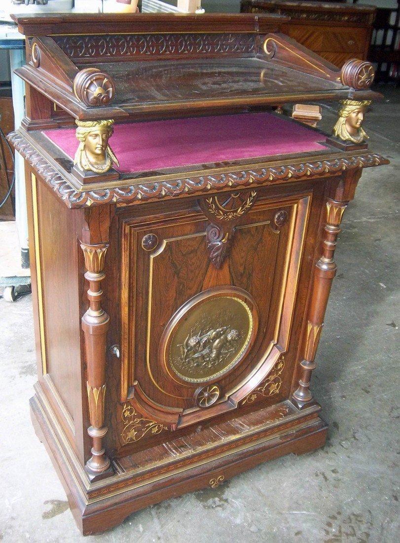 151: Rosewood Pottier Stymus music cabinet