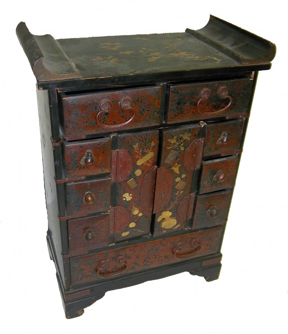1: Small 20th C. Chinese apothocary chest