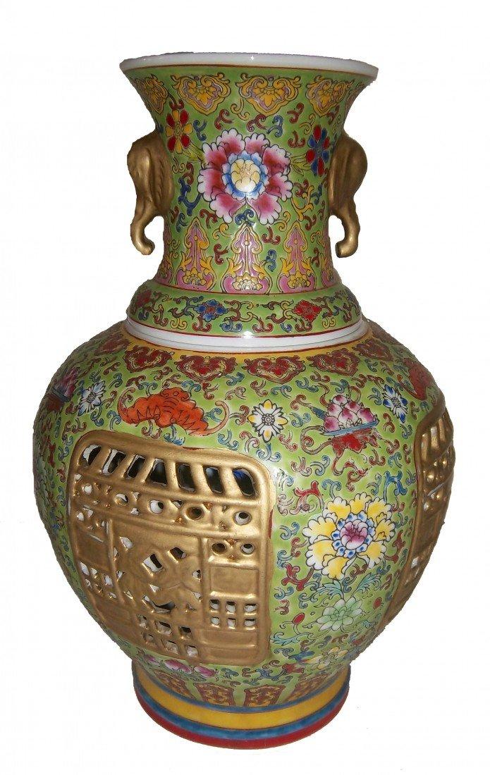 "2: Wu Cai porcelain vase ""Qian Long"" mark"