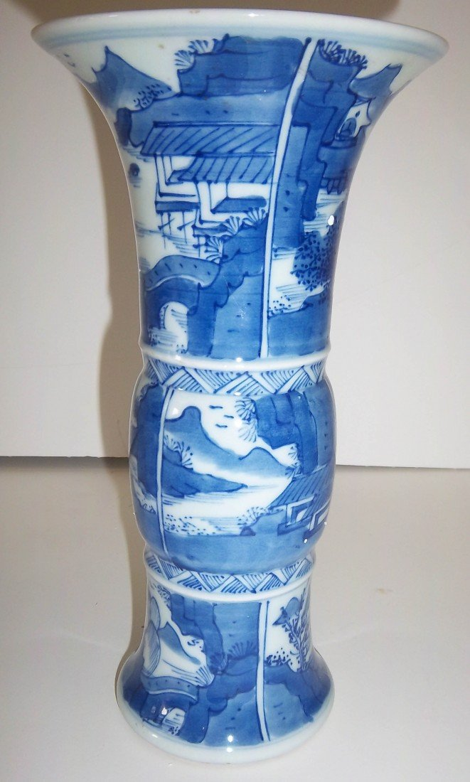 11: 19th C. Chinese blue and white porcelain vase