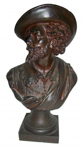 Fine Quality 19th C. Spelter Bust Of Man