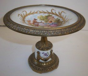 Bronze Mounted Sevres Card Tray