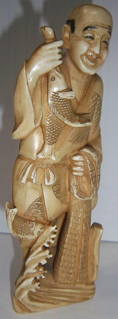 68: 19th C. Chinese carved ivory figure
