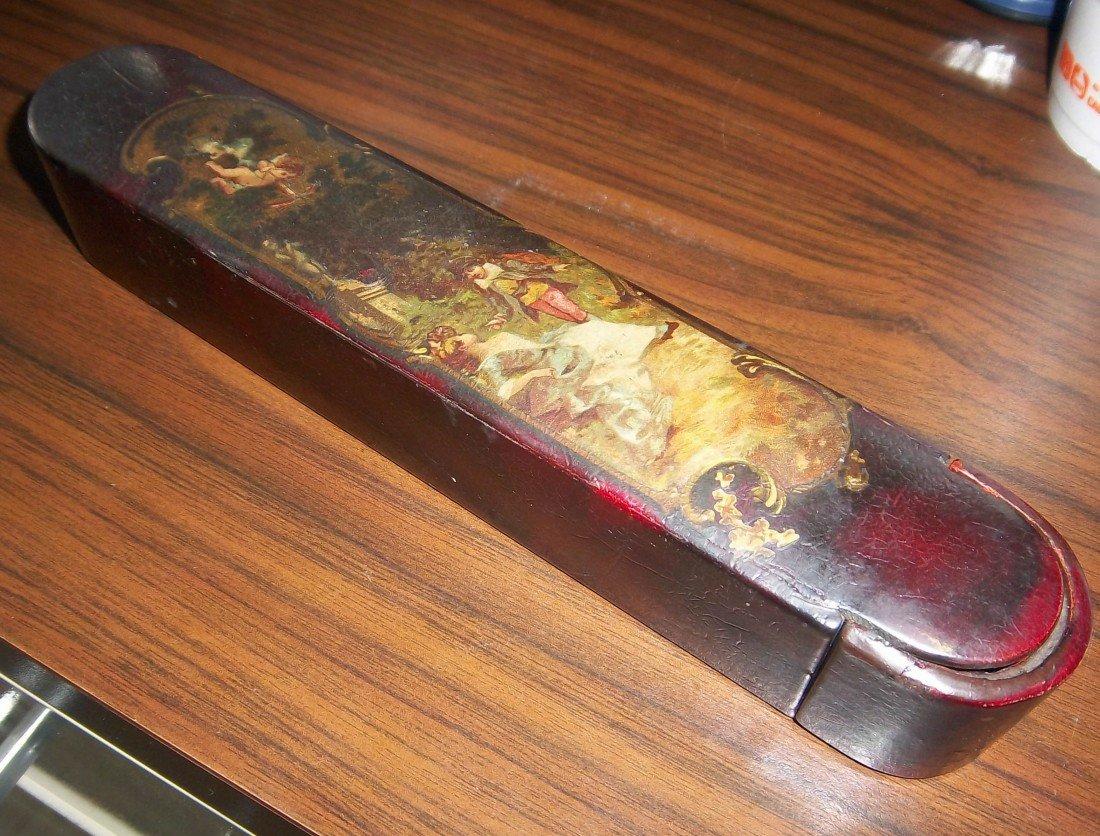 107: 18th C. laquered Russian pencil box