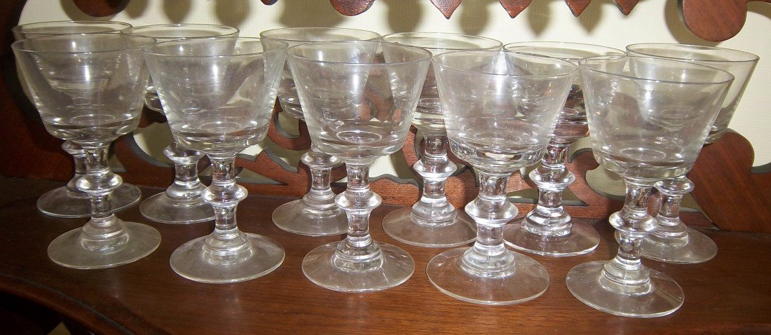 """111: 11 Heisey glass fluted drinkware 4 1/2""""h"""