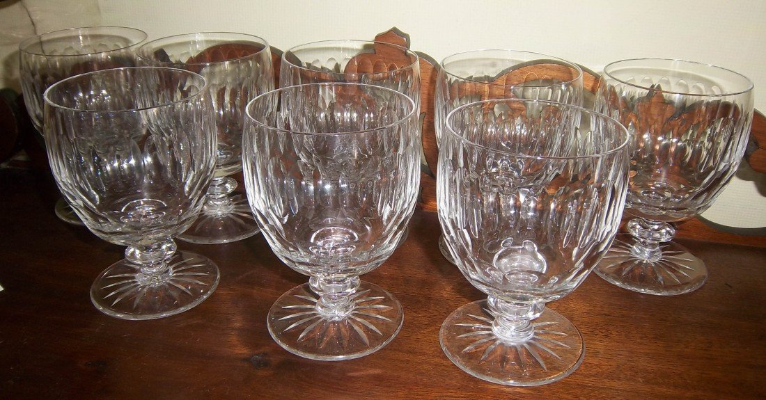 "112: Set of 8 Heisey glass drinkware 5""h"