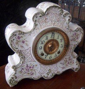 19th C. Dresden Porcelain Ansonia Clock
