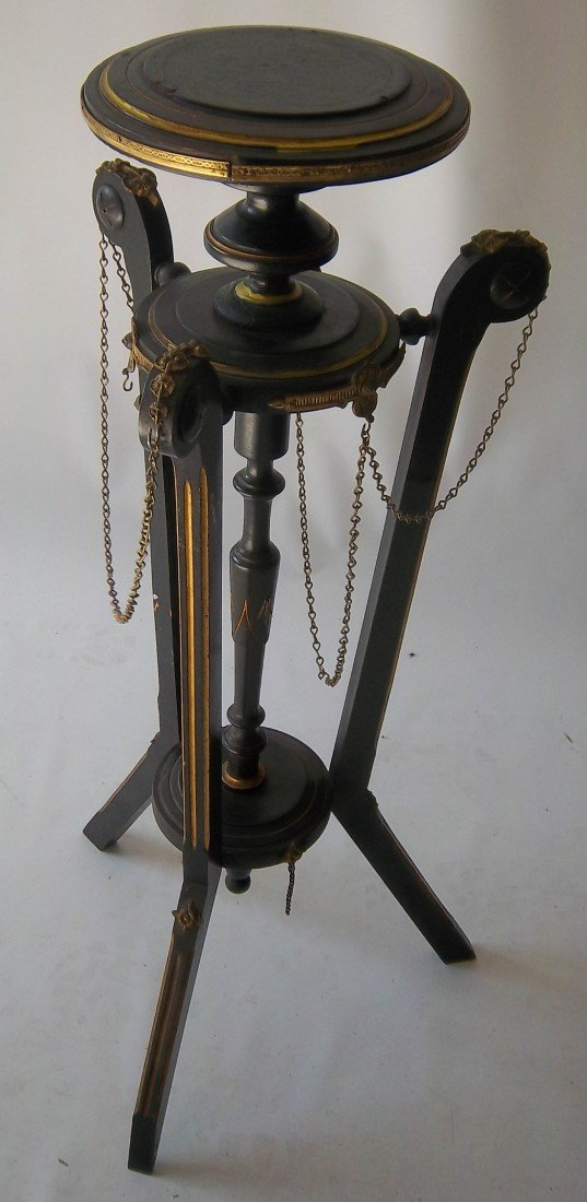 175: American egyptian revival candle stand