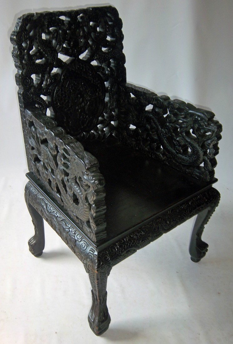 179: 19th C. teak armchair