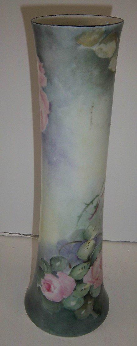 187: Royal Austria vase with handpainted flowers
