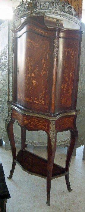 19th C. RJ Horner Inlaid Rosewood And Bronze Moun