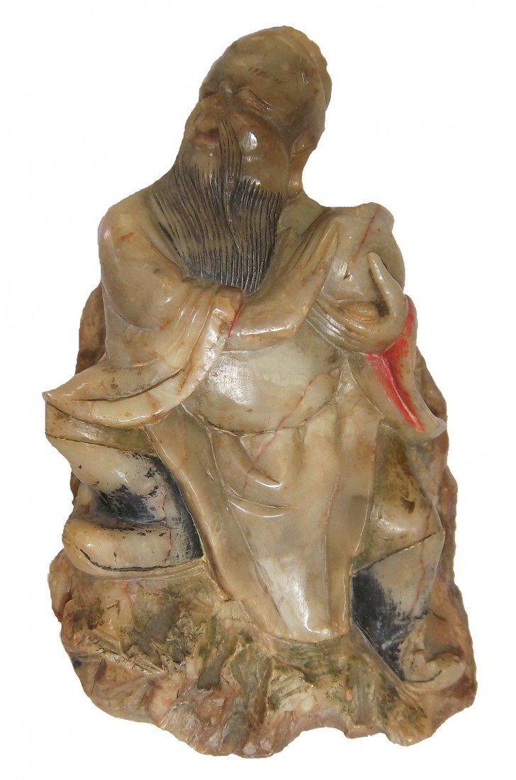 2: Soapstone figure of asian man