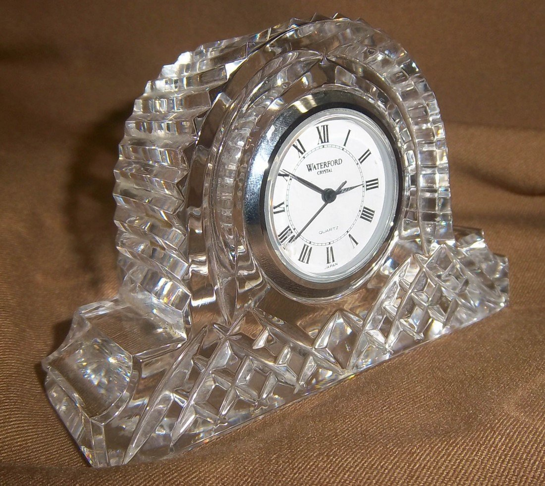 8: Small Waterford crystal clock
