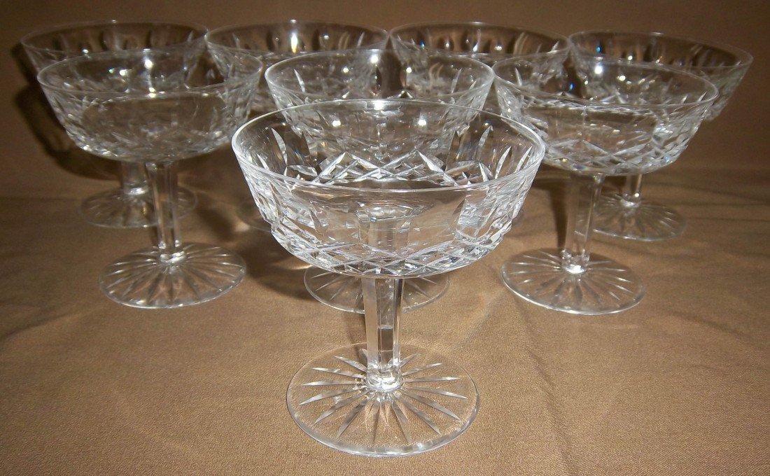 11: Set of 8 Waterford Crystal sherbert glasses