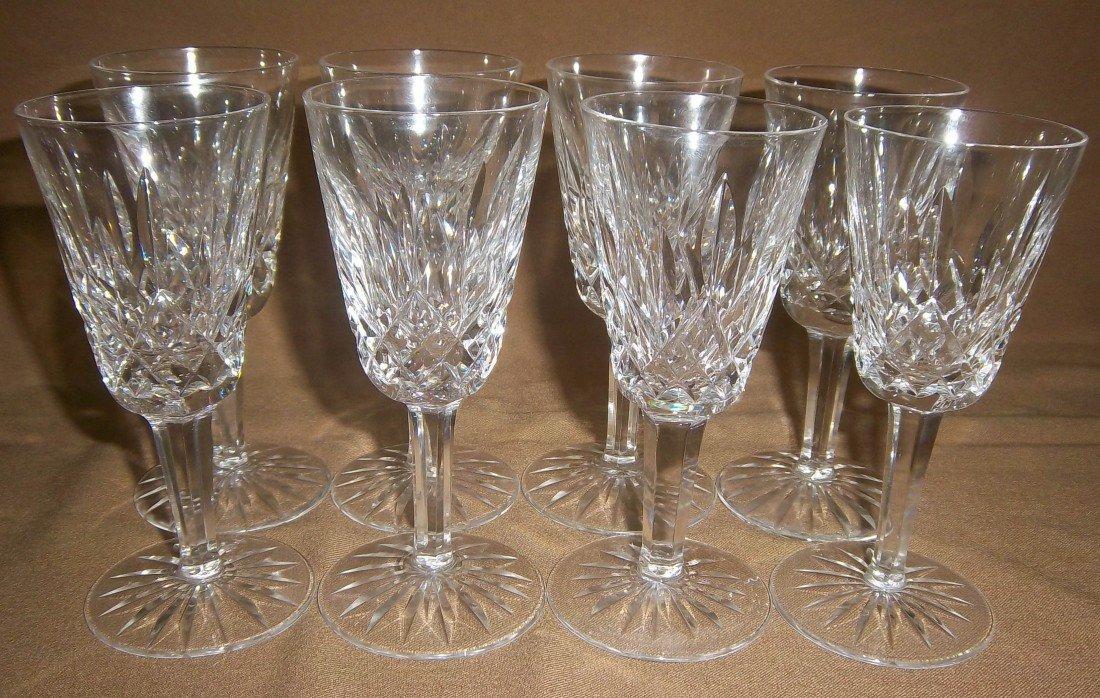 12: Set of 8 Waterford Crystal Lismore cordial glasse
