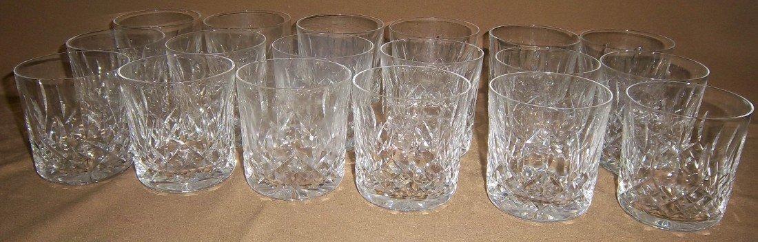 13: Set of 18 Waterford Crystal Lismore tumblers