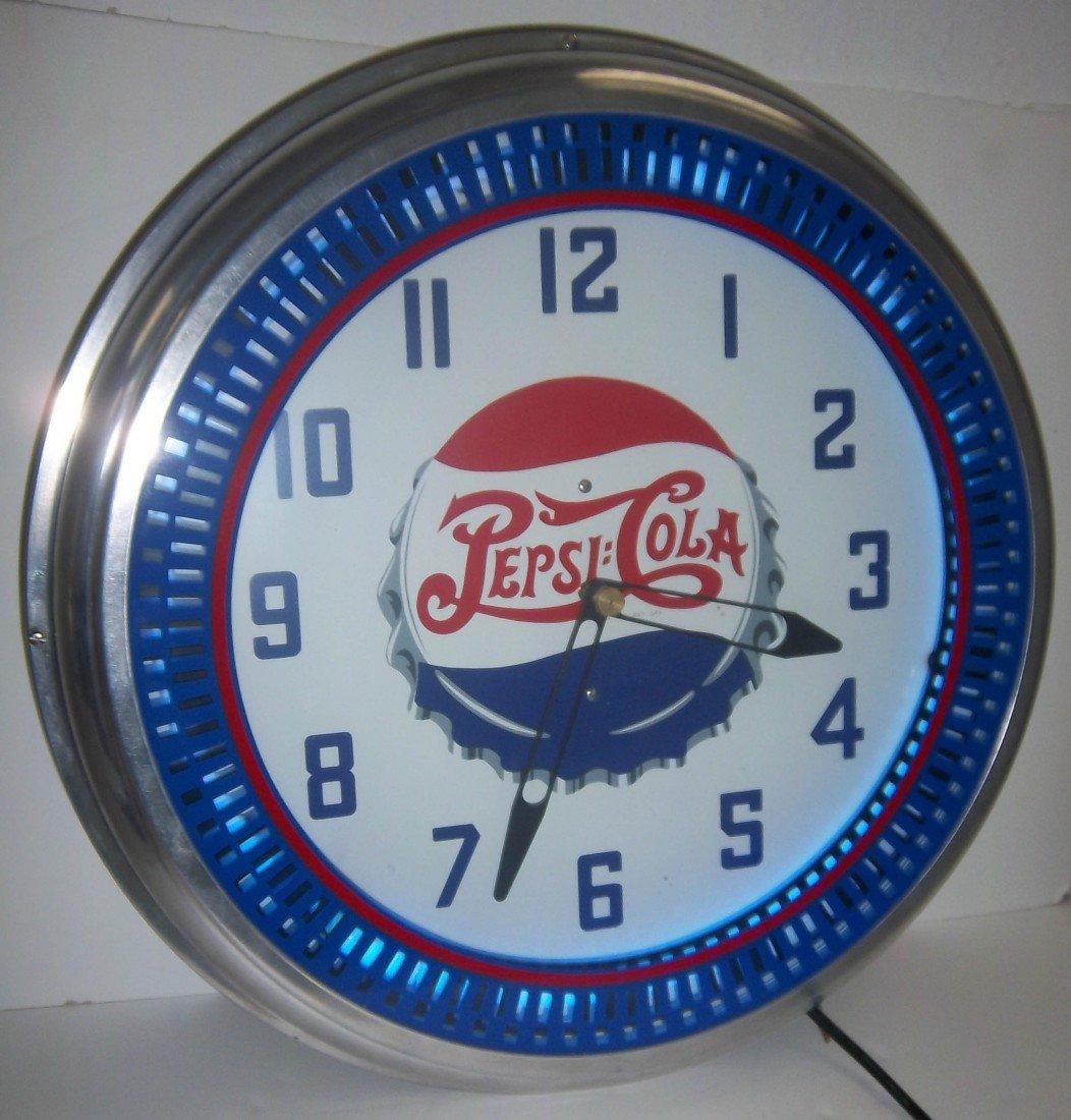38: Vintage style Pepsi neon clock