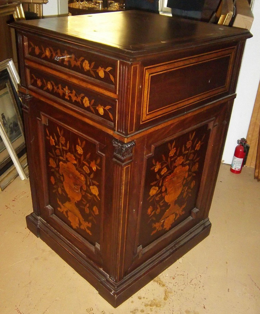 9: C1870 American walnut credenza with inlay work