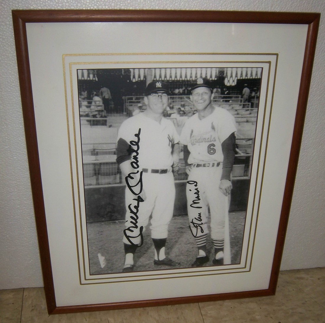 10A: Print of Mickey Mantle and Stan Musial