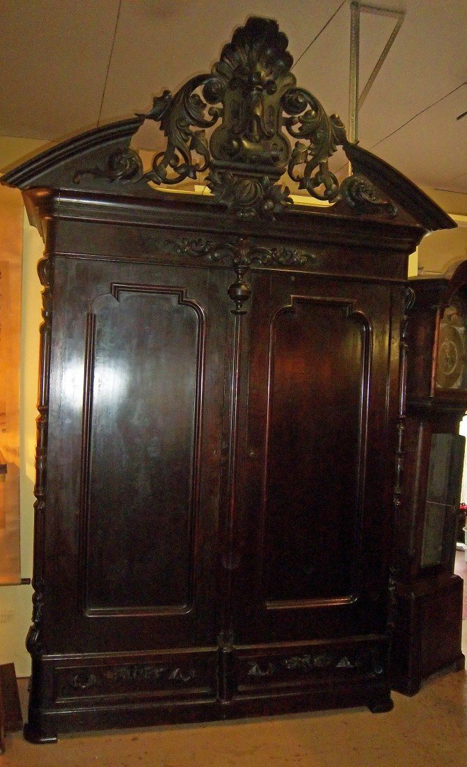 11: C1860 American walnut 2 door wardrobe