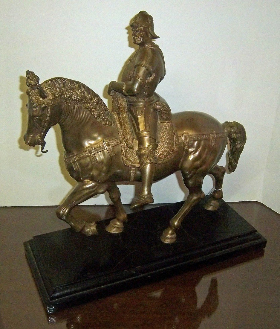 16: 19th C. dore bronze of man on horseback