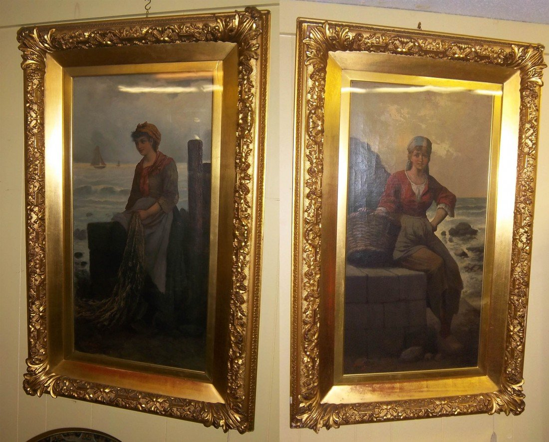 24: Pr of 19th C. Italian paintings signed F. Albenti