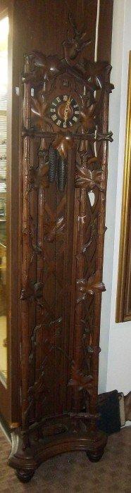 Rare C1880 Black Forest Tall Case Clock