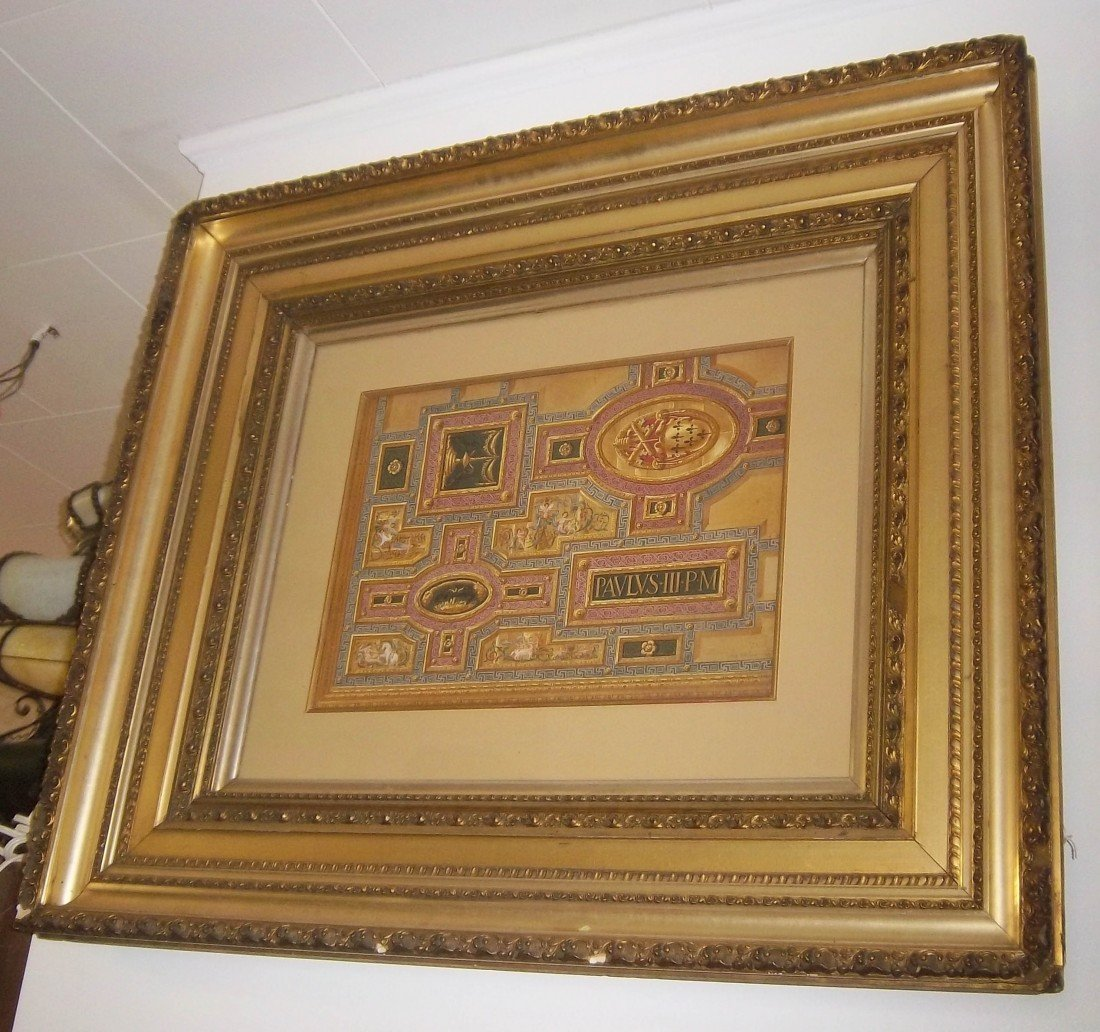 42: C1850 Italian painting of a ceiling