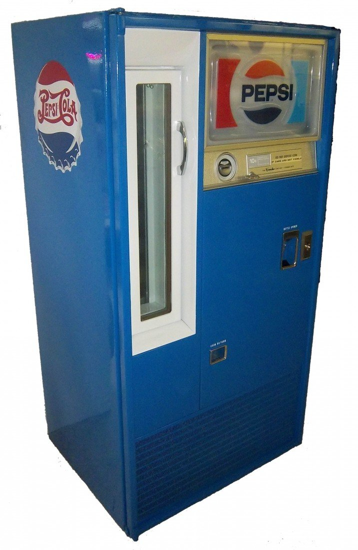 44: Restored and Mint Vendo Pepsi Cola machine