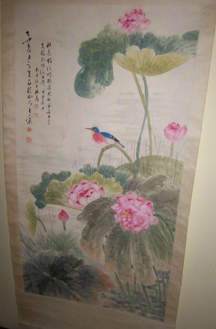 3: Oriental watercolor scroll