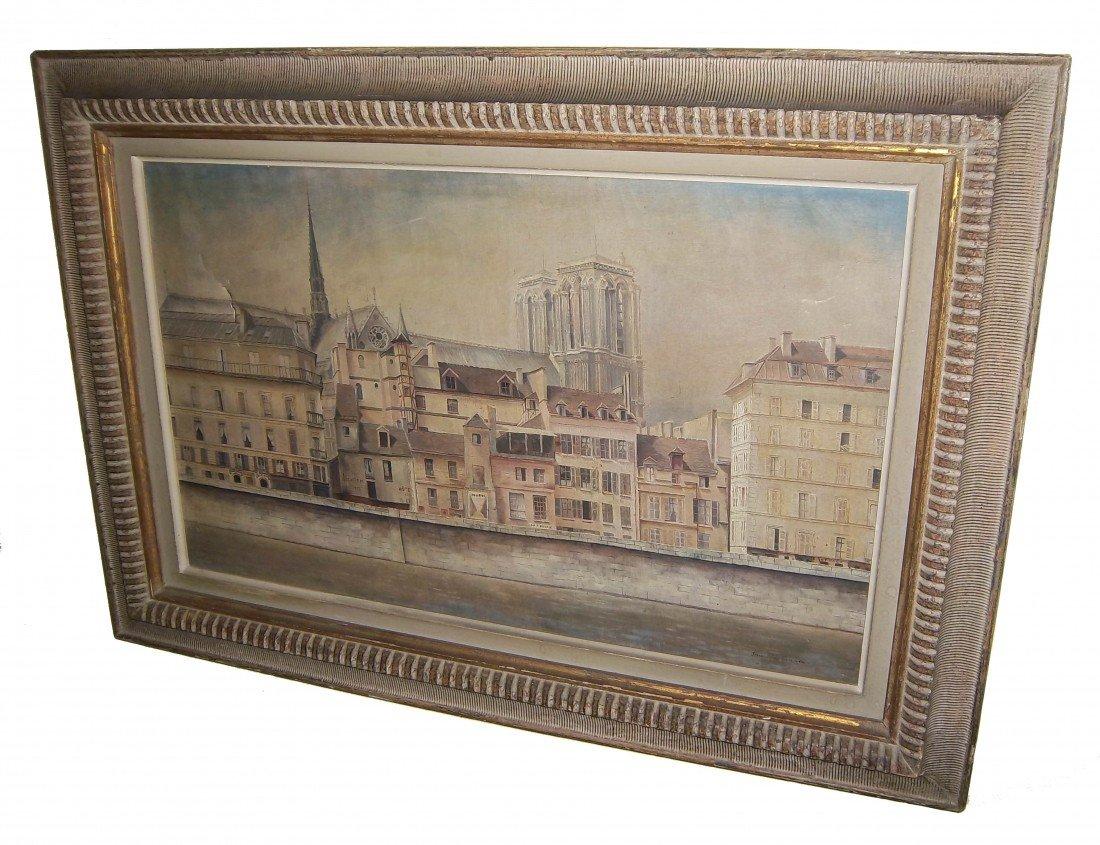 8: Early 20th C. o/c Notre Dame sgd. MacKinnon