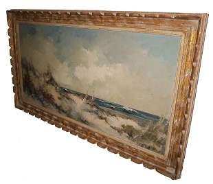 Early 20th C. artist sgd. o/c seascape